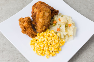 3 Fried Chicken Wings with 2 Sides Lunch Special - delivery menu