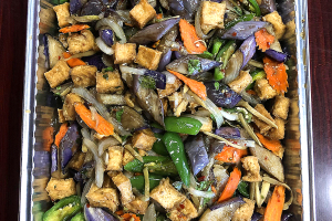 Spicy Eggplant with Tofu Tray - delivery menu