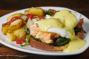 Smoked Salmon Benedict - delivery menu