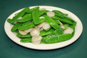 101. Quart of Sauteed Snow Peas with Waterchestnuts - delivery menu