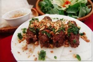 BH5. Banh Hoi Bo Nuong Sa - delivery menu