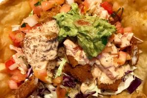 Baja Fish Tostada Salad - delivery menu