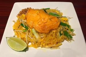 107. Pad Thai Salmon - delivery menu