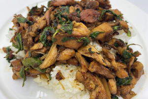 Rice with Stir Fried Beef and Basil - delivery menu