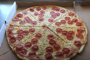 22 inch Large pepperoni pizza pie with 2 liter soda fr - delivery menu