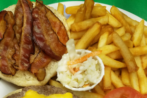 114. Deluxe Bacon Cheese Burger - delivery menu