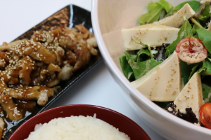 4. Chicke Teriyaki, Rice and Tofu Salad Combination - delivery menu