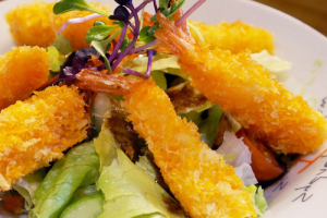 Fried Shrimp Salad 새우튀김샐러드 - delivery menu