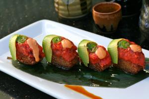 Spicy Tuna Rice Cake - delivery menu