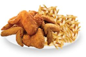Chicken Wings with Fries - delivery menu