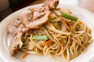 36. Pork Chop with Fried Hand Pull Noodle - delivery menu