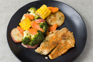 Tilapia with Vegetables - delivery menu