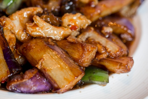 Eggplant with Woodear Mushroom - delivery menu