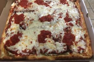 Eggplant Parmigiana Sicilian Pizza - delivery menu