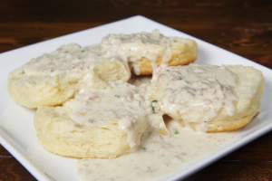 Biscuits and White Sausage Gravy - delivery menu