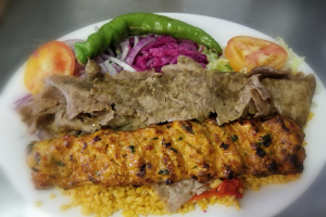 Chicken Adana and Lamb Gyro Combination - delivery menu