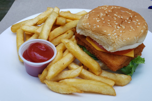 Fried Fish Sandwich & Side - delivery menu