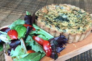 Spinach Quiche - delivery menu