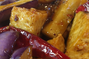 D42. Stir Fried Eggplant with Tofu Dinner - delivery menu
