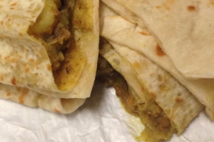 Curry Goat Roti Wrap - delivery menu