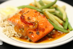 Charbroiled Salmon - delivery menu