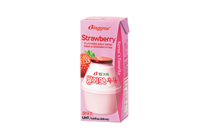 Binggrae Strawberry Flavor Milk 빙그레딸기우유 - delivery menu