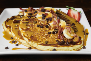 Chocolate Chips, Bacon and Banana Pancakes - delivery menu