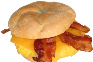 Bacon, Egg and Cheese on Roll - delivery menu