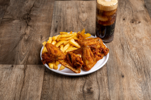 Whole Wings Special with Side and Soda - delivery menu