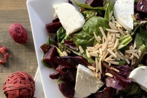 Baked Beets with Goat Cheese Salad - delivery menu