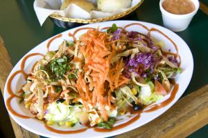 BBQ Salmon Salad - delivery menu