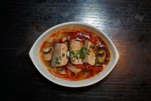 S6. Tom Zabb Salmon Soup - delivery menu