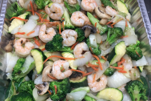 Party Tray Shrimp with Mixed Vegetable - delivery menu