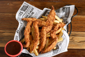 Crispy Chicken Strips and Chips - delivery menu