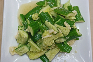 6. Cucumber with Garlic Sauce - delivery menu
