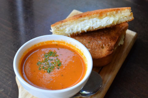 Gourmet Grilled Cheese & Tomato Soup - delivery menu