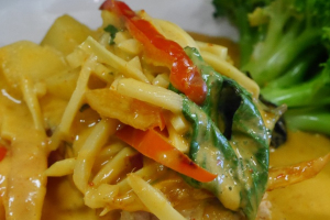 48. Salmon Curry - delivery menu