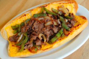 Philly Cheesesteak with Peppers and Onions - delivery menu