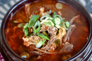 Lunch- Yook Gae jang (Soup) - delivery menu