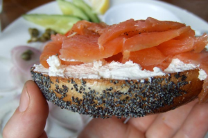 Nova Scotia Salmon on a Bagel - delivery menu