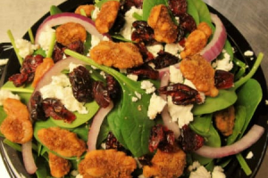 Spinach Cranberry Goat Cheese Salad - delivery menu