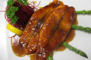 H26. Grilled Sesame Crusted Salmon - delivery menu