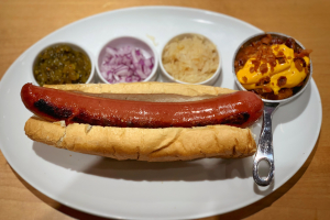 Mansion's Foot-Long Hot dog & Homemade Potato Chips - delivery menu