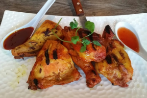 401. Flaming BBQ Chicken - delivery menu