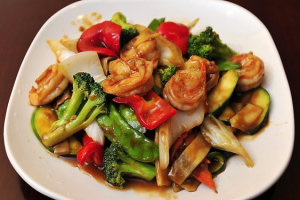 74. Shrimp with Mixed Vegetables - delivery menu