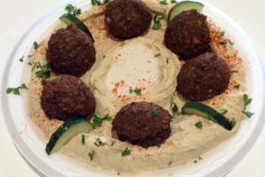 Hummus Falafel Plate - delivery menu