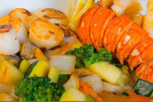 Scallop & Lobster Hibachi Entree Combo - delivery menu