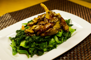 E12. Oyster Mushroom with Chinese Broccoli - delivery menu