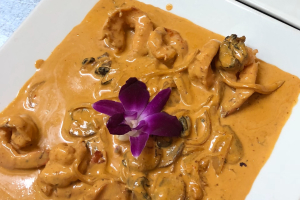 Camarones con Champinones en Salsa Chipotle - delivery menu