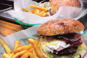 Cermak Burger with Fries and Pop - delivery menu
